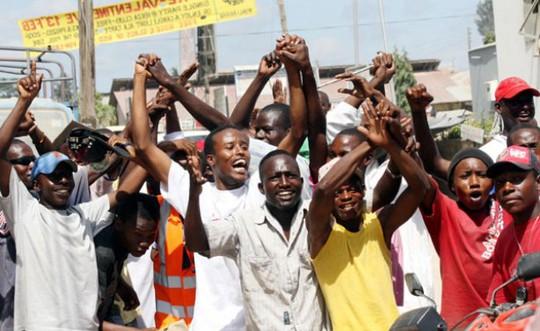 Một cuộc biểu tình chống đồng tính tại Kenya. Ảnh tư liệu allAfrica.com