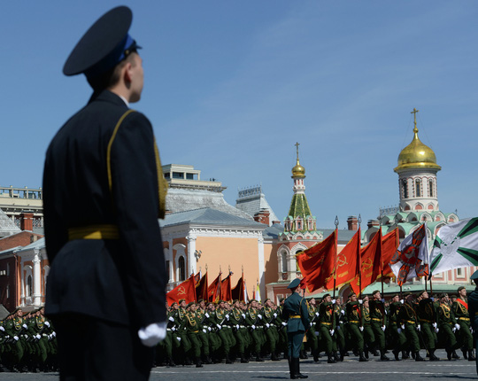 Final rehearsal of military parade to mark 70th anniversary of Victory in 1941-1945 Great Patriotic War