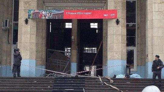 Vụ đánh bom vào nhà ga xe lửa TP Volgograd ngày 29-12-2013. Ảnh: RT