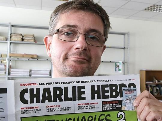 Biên tập viên Stephane Charbonnier, một trong 12 người bị 2 tay súng bắn chết. Ảnh: AP