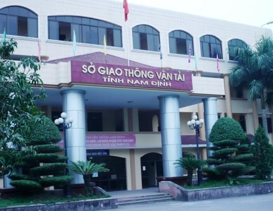Sở GTVT tỉnh Nam Định, nơi để xảy ra sai phạm. Ảnh GTVT