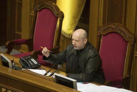 Thư ký Hội đồng an ninh quốc phòng Ukraine Oleksander Turchynov. Ảnh: Reuters