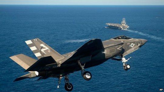 Tia chớp F-35 Lightning II do Mỹ sản xuất. Ảnh: AP