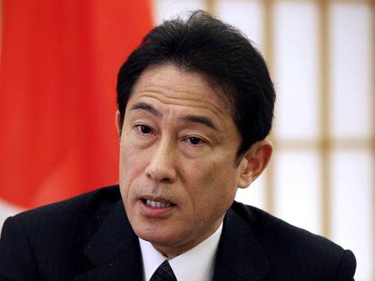 Ngoại trưởng Nhật Bản Fumio Kishida. Ảnh: AP