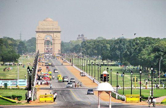 Đại lộ Rajpath, nơi tổ chức lễ diễu hành ngày 25-1. Ảnh: Wikipedia