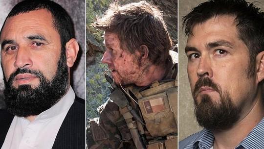 Mohammad Gulab (trái) và lính SEAL Marcus Luttrell (phải). Ảnh: News.com.au