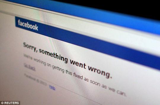 Facebook bị đánh sập 1 giờ sáng 27-1. Ảnh: Reuters