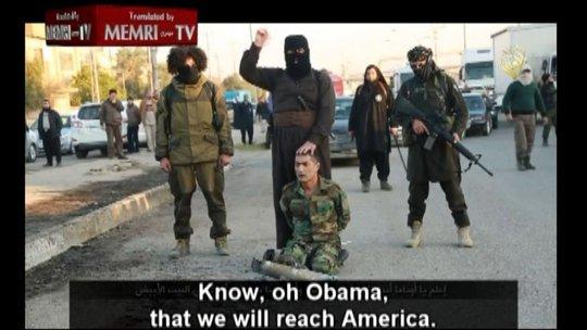 IS đe dọa chặt đầu Tổng thống Obama. Ảnh: Fox News