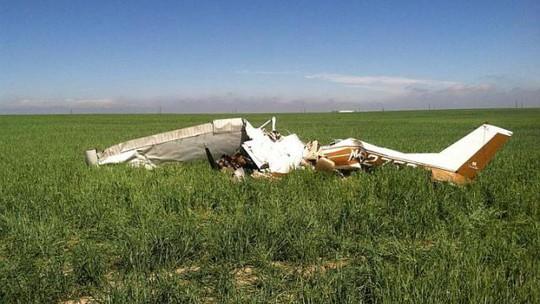 Chiếc Cessna 150K rơi ngày 31-5-2014 gần bang Colorado - Mỹ. Ảnh: Reuters
