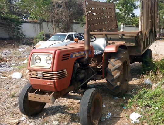 Chiếc máy cày được xác định có liên quan đến vụ tai nạn