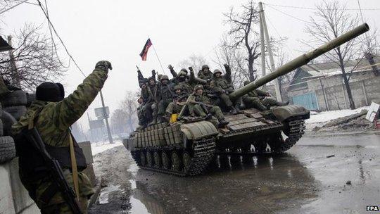 Phe ly khai thân Nga vẫn đang kiểm soát phần lớn các khu vực Donetsk và Luhansk ở miền Đông Ukraine. Ảnh: EPA