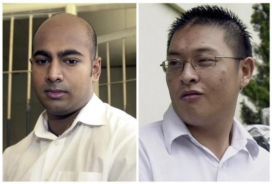 Myuran Sukumaran (trai và Andrew Chan sắp bị Indonesia tử hính. Ảnh: AAP