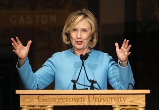 Cựu Ngoại trưởng Mỹ Hillary Clinton. Ảnh: Reuters