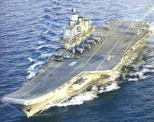Tàu sân bay Đô đốc Kuznetsov của Hải quân Nga. Ảnh: Naval Technology
