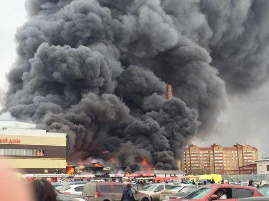 Đám cháy bắt đầu hôm 11-3. Ảnh: Twitter