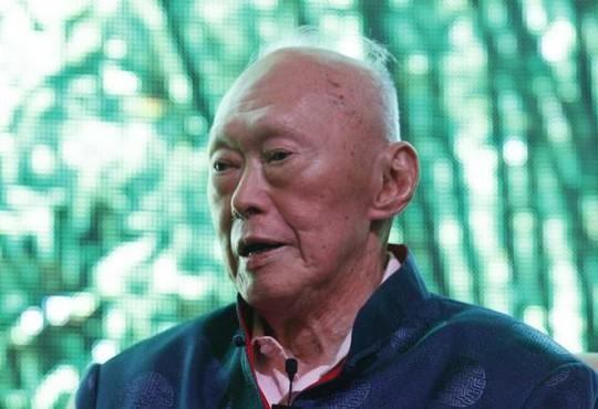 Ông Lý Quang Diệu. Ảnh: Reuters