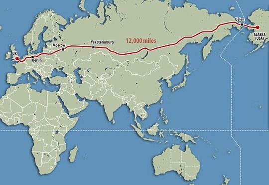 Dự án siêu xa lộ của Nga. Ảnh: Daily Mail