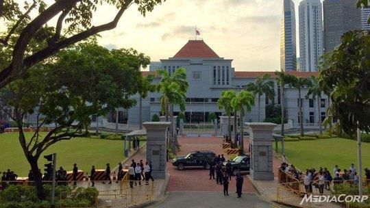 Tòa nhà Quốc hội Singapore, nơi linh cữu ông Lý Quang Diệu được chuyển tới hôm 25-3. Ảnh: CNA