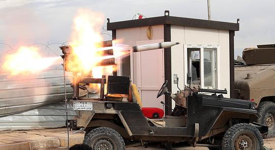 Lực lượng Iraq và liên minh bắt đầu không kích mục tiêu của tổ chức Nhà nước Hồi giáo tại TP Tikrit. Ảnh: NBC News