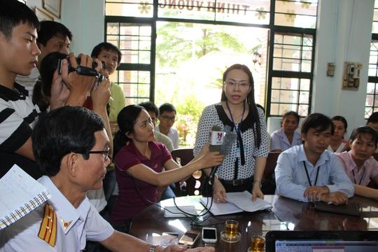 Bà Nguyễn Thị Kim Tiên báo cáo giải trình với Thanh tra Sở