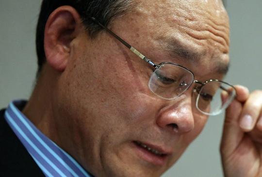 Cựu chủ tịch tập đoàn Keangnam Sung Woan-jong đã tự tử hôm 9-4. Ảnh: Yonhap