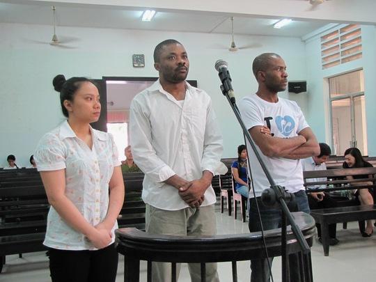 Các bị cáo trong phiên tòa sơ thẩm