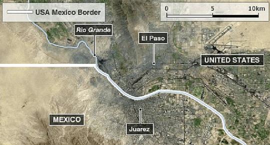 IS đang điều hành một khu trại cách không xa TP El Paso, bang Texas – Mỹ. Ảnh: Liberty News