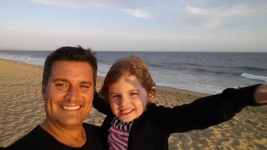 Ông Richard Ilczyszyn và con gái. Ảnh: Facebook