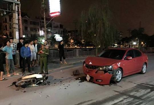 Hiện trường vụ tai nạn - Ảnh: otofun