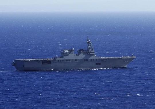 Một tàu hải quân Nhật Bản tập trận ở Honolulu, Hawaii năm 2014. Ảnh: Reuters