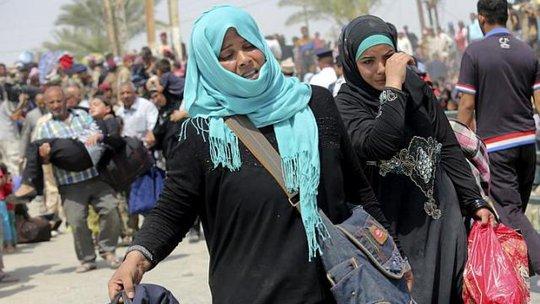 Người dân TP Ramadi chạy trốn IS sau khi nơi này thất thủ. Ảnh: Reuters