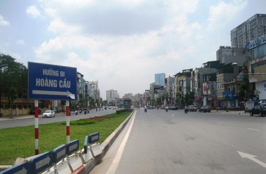 Đường Hoàng Cầu - Ô Chợ Dừa trước đó được mệnh danh là con đường đắt nhất hành tinh với mỗi mét chiều dài tốn hơn 1 tỉ đồng