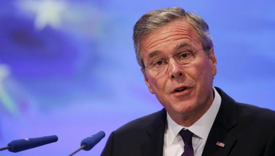 Ông Jeb Bush phát biểu tại Berlin hôm 10-6. Ảnh: Reuters