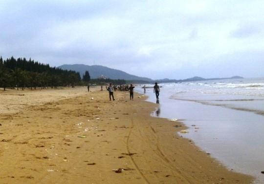 Bãi biển Hoằng Hải nơi xảy ra vụ việc thương tâm