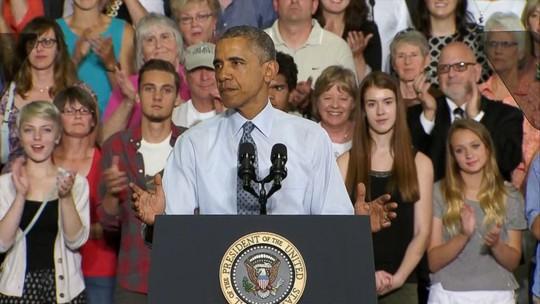 Tổng thống Barack Obama phát biểu tại TP La Crosse, bang Wisconsin – Mỹ hôm 2-7. Ảnh: ABC News