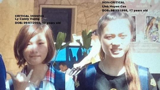 Ảnh của 2 thiếu nữ Việt mất tích tại Mỹ. Ảnh: LAX Airport Police