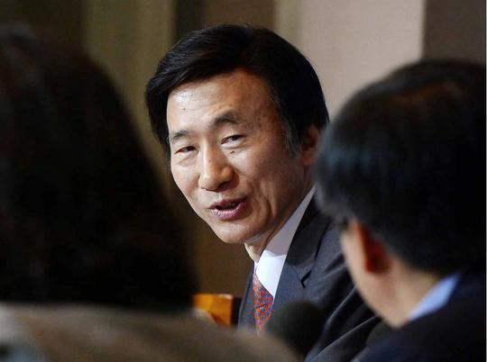 Ngoại trưởng Hàn Quốc Yun Byung-se tại một diễn đàn ở Seoul hôm 9-7. Ảnh: AP
