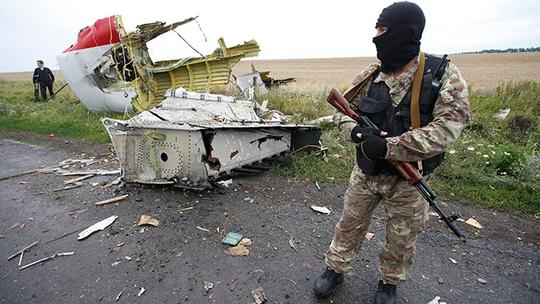 Mảnh vỡ chiếc MH17 rơi tại khu vực Donetsk, miền Đông Ukraine. Ảnh: Reuters