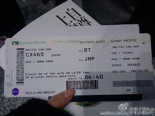 Her ticket showed she had a jump seat in business class, which can be offered to the family of crew members