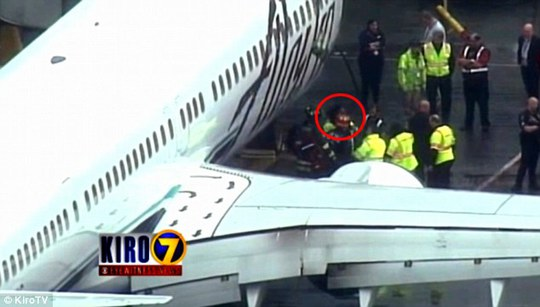 Passengers could hear banging and screaming from beneath the aircraft as they flew from Seattle to LA
