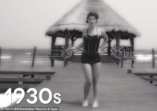 Figure flattering: By the 1930s, swimsuits were sleeveless and featured lower necklines and shorter bottoms than ever before
