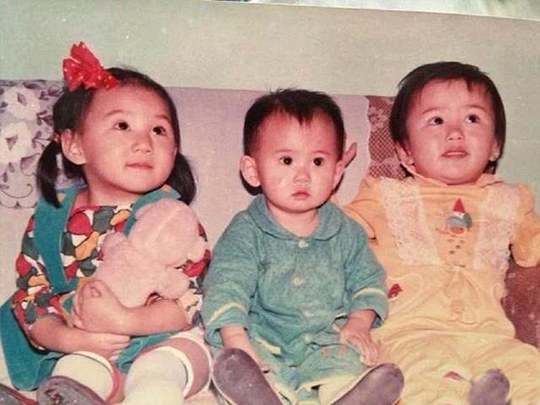 Once upon a time: Picture shows Sicong (middle) with his cousins when he was young