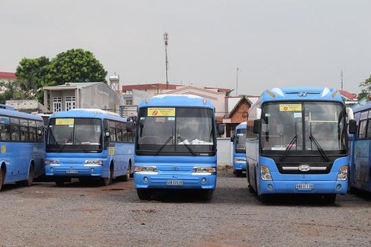 Xe buýt Đồng Nai đang sử dụng là ;loại xe buýt chạy dầu diesel. Ảnh: H.A.C