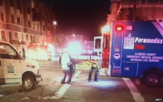 Paramedics at scene