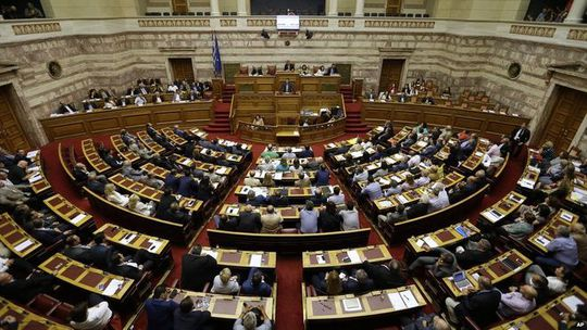 Greek MPs vote on reforms package. 11 July 2015