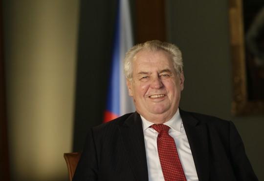 Tổng thống CH Czech Milos Zeman. Ảnh: AP