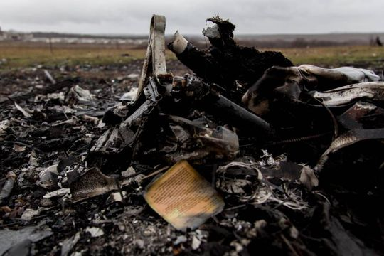 Pieces of plane and passenger belongins on the main crash site near Grabovo village MH17 - HOLD FOR KEITH POOLE