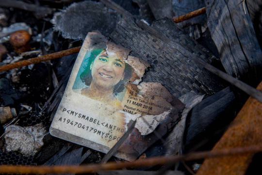 Haunting passport picture among hundreds of pieces of debris at MH17 crash site