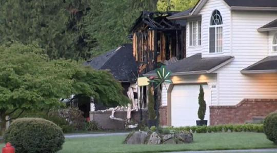 The chilling confession appeared after a fire broke out at this Rosedale home, east of Chilliwack, B.C. Neighbors, speaking to a local reporter, have identified its residents as the victims.