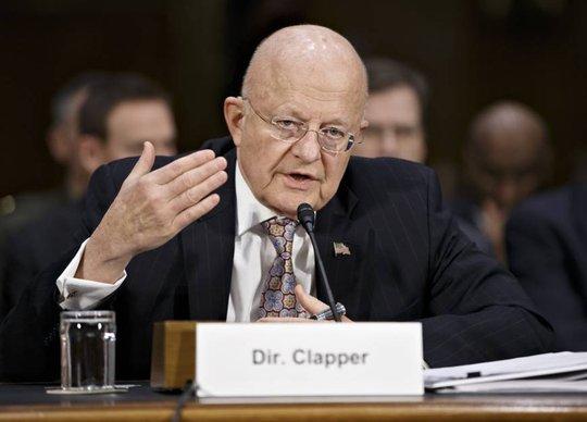 Giám đốc Tình báo Quốc gia Mỹ James Clapper. Ảnh: AP